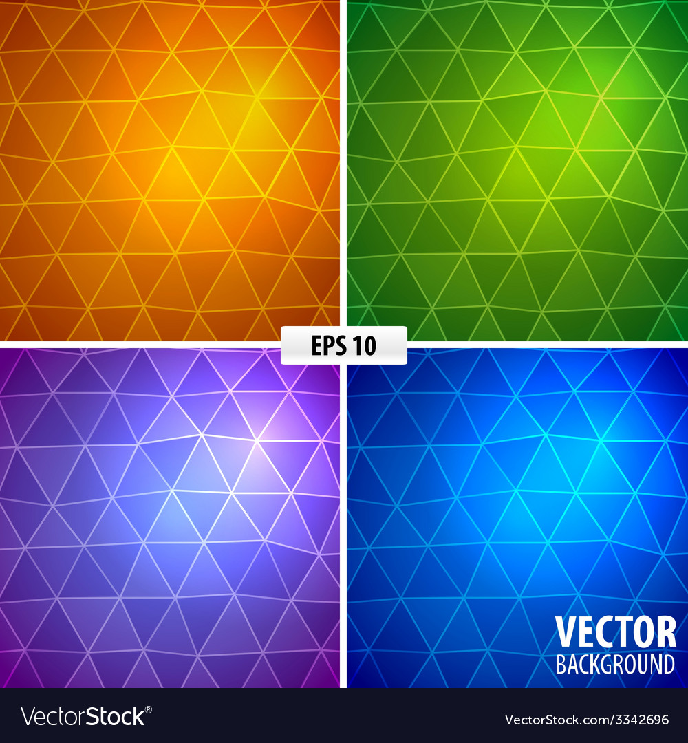 Set of 4 mosaic background vector | Price: 1 Credit (USD $1)