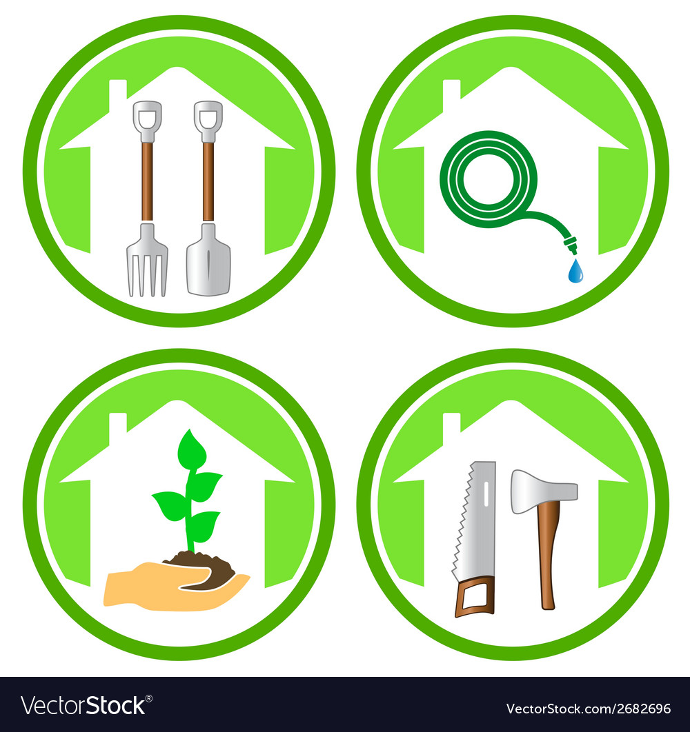 Set of gardening concept icons vector | Price: 1 Credit (USD $1)