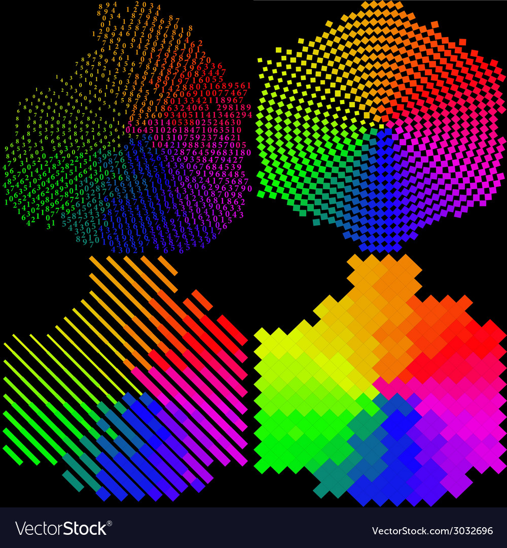 Set of multicolored mosaic abstract background vector   Price: 1 Credit (USD $1)