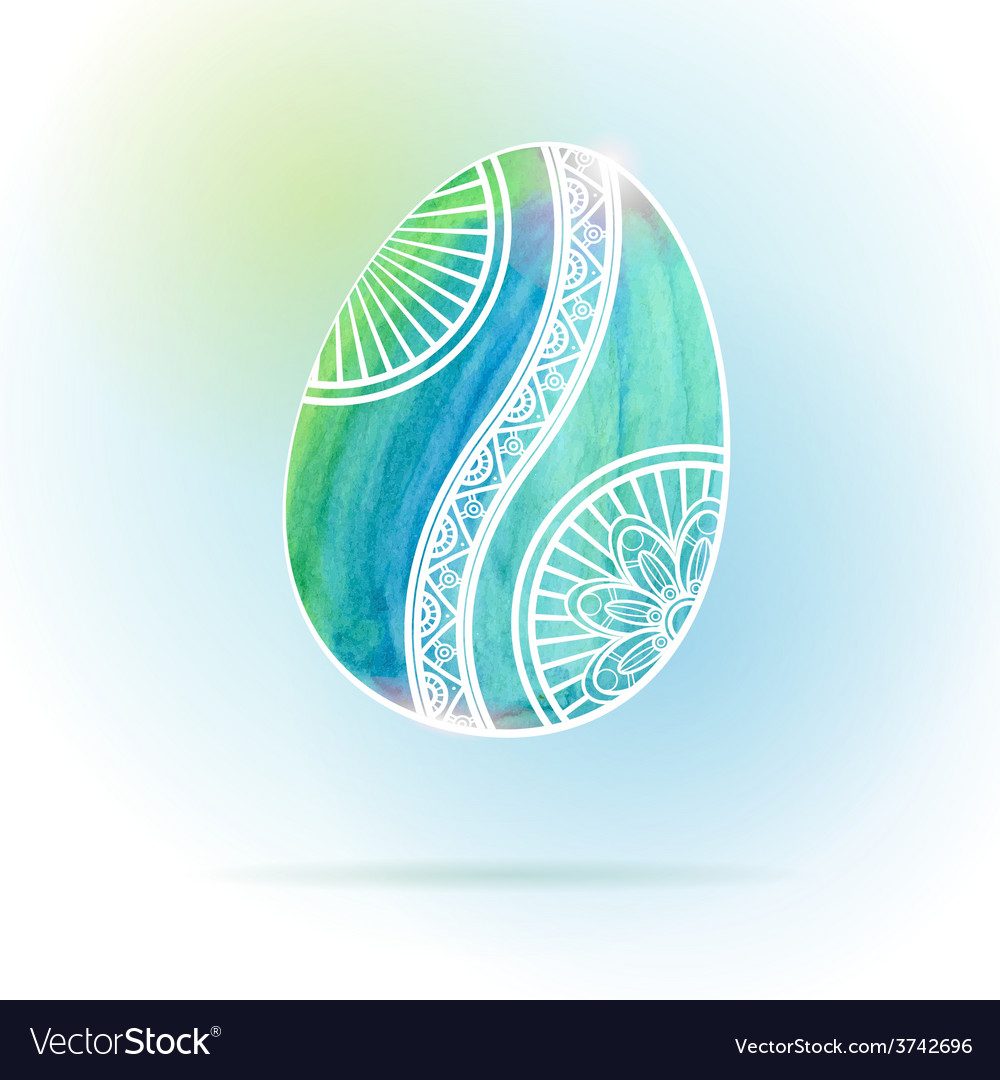 Watercolor easter egg vector | Price: 1 Credit (USD $1)