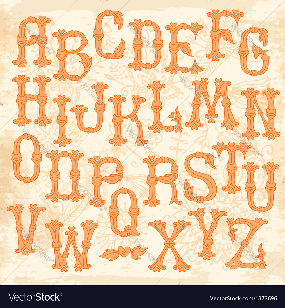 Whimsical hand drawn alphabet letters vector | Price: 1 Credit (USD $1)