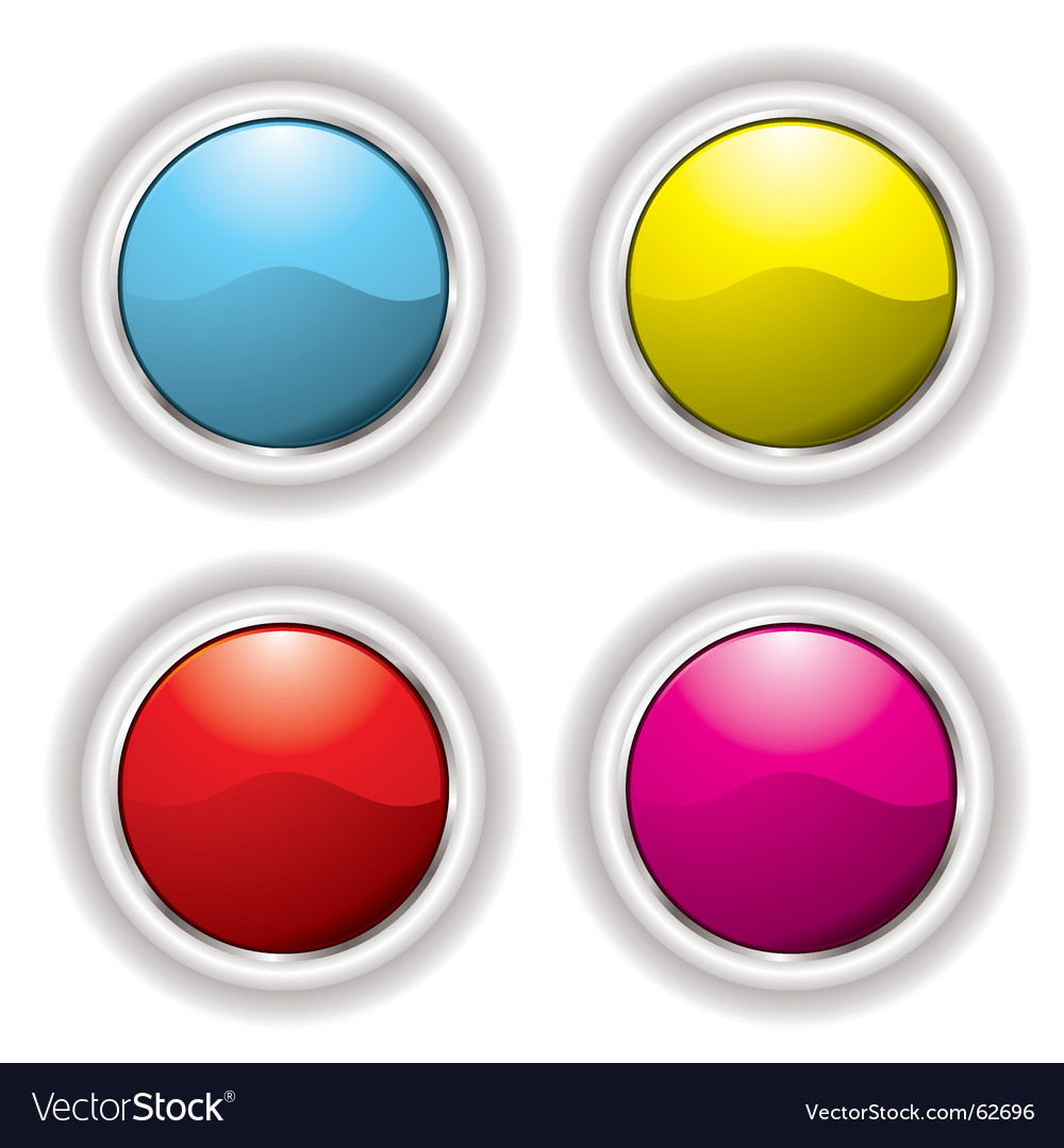 White bevel button vector | Price: 1 Credit (USD $1)