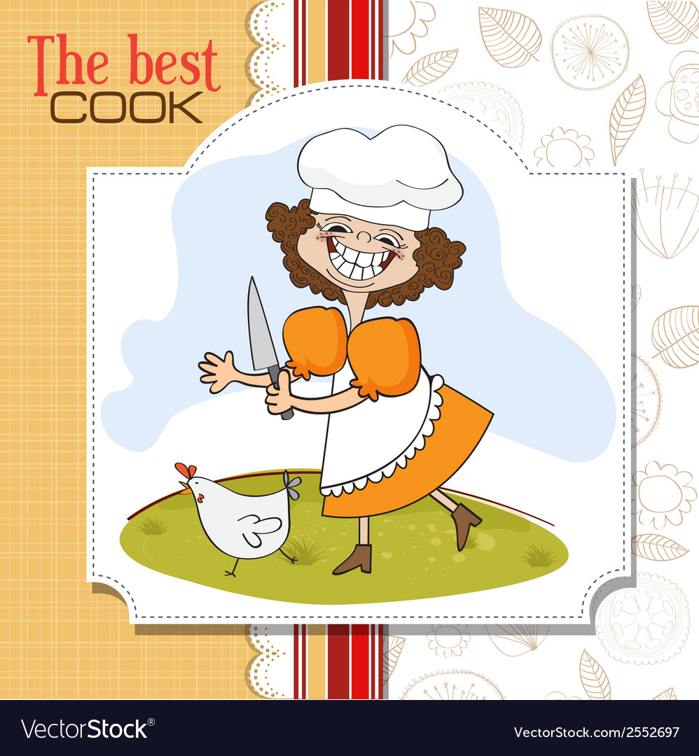 Best cook certificate with funny cook who runs a vector | Price: 1 Credit (USD $1)
