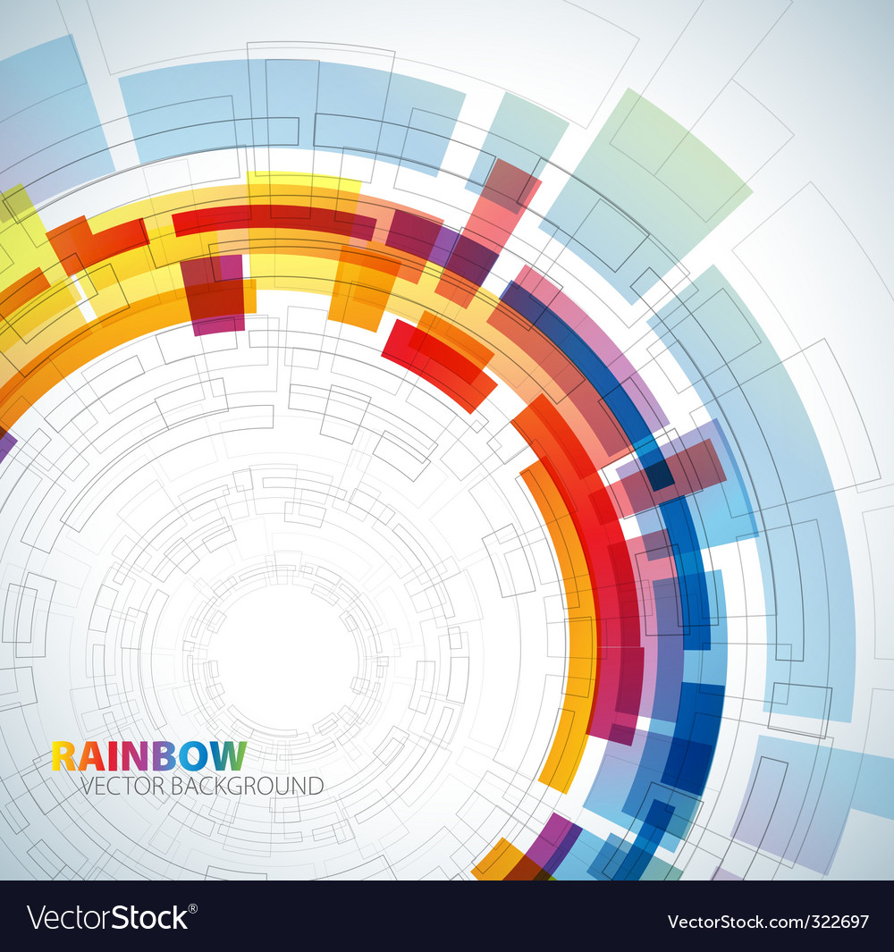 Circle rainbow background vector | Price: 1 Credit (USD $1)