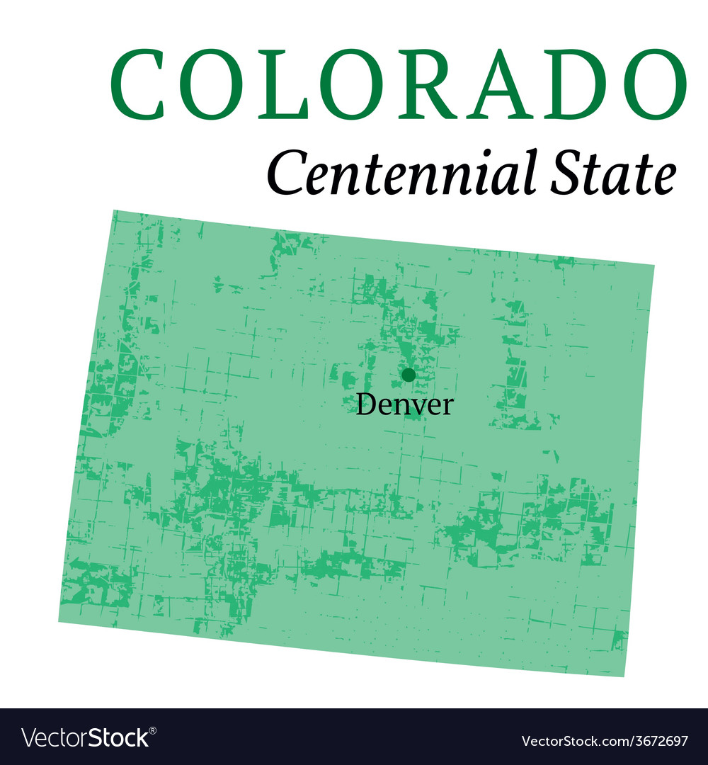 Colorado state stylized map vector | Price: 1 Credit (USD $1)