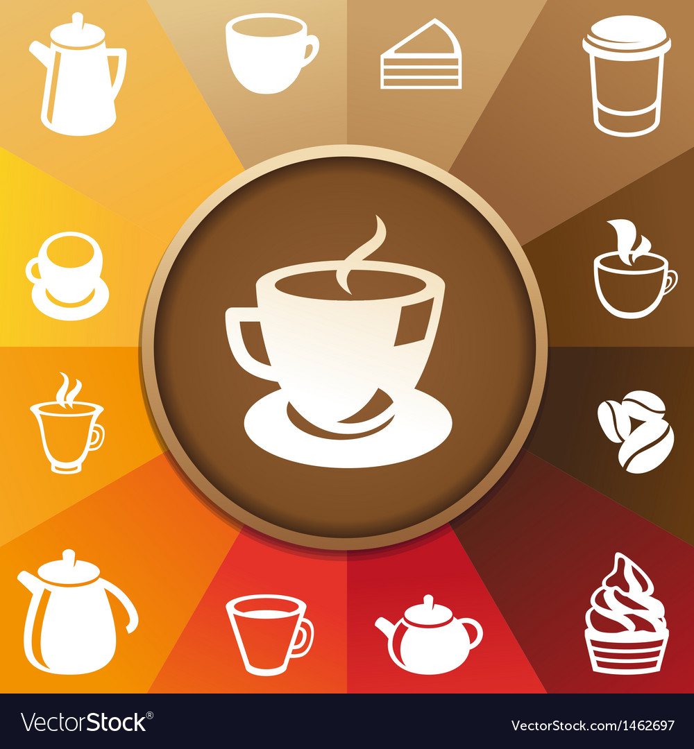 Concept with coffee and tea icons vector | Price: 1 Credit (USD $1)