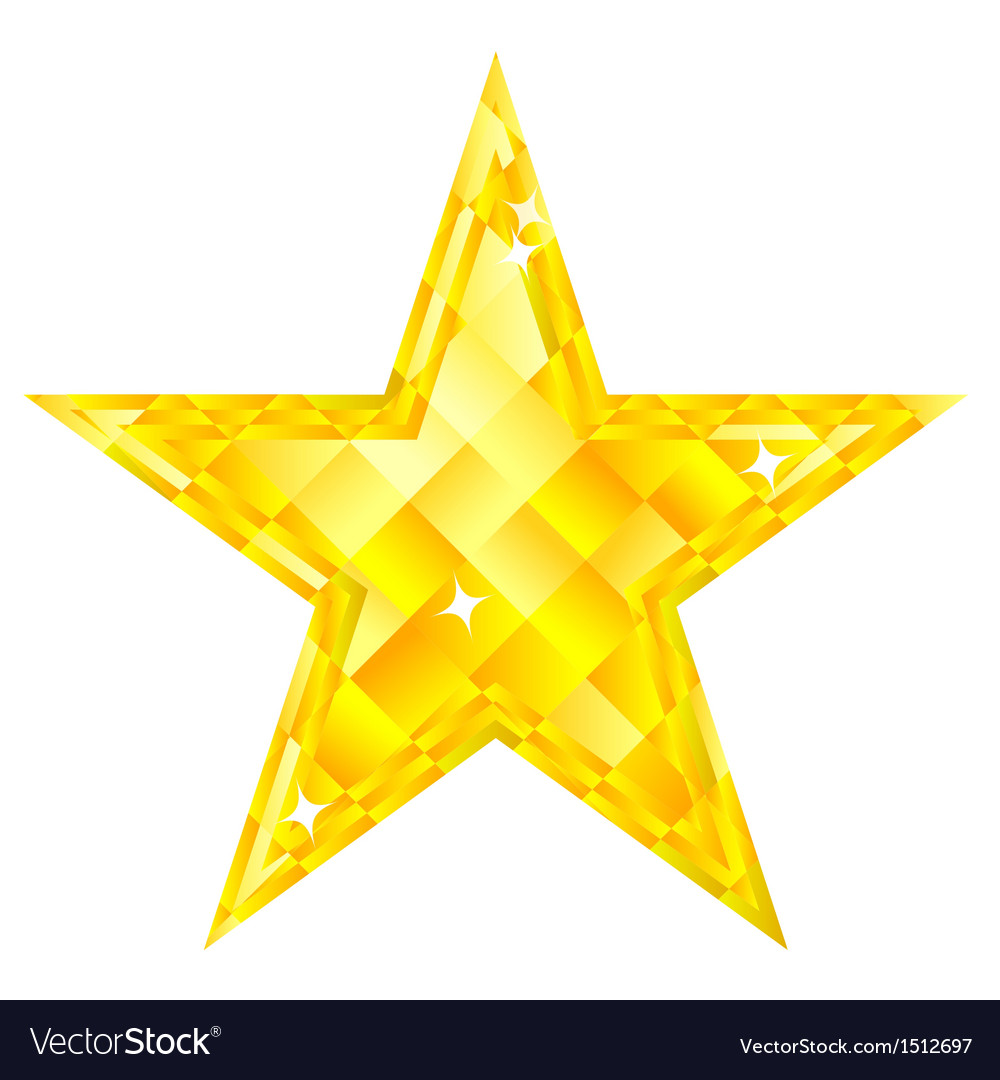 Diamond star vector | Price: 1 Credit (USD $1)