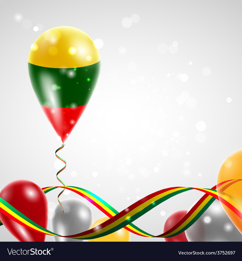 Lithuanian flag on balloon vector   Price: 1 Credit (USD $1)