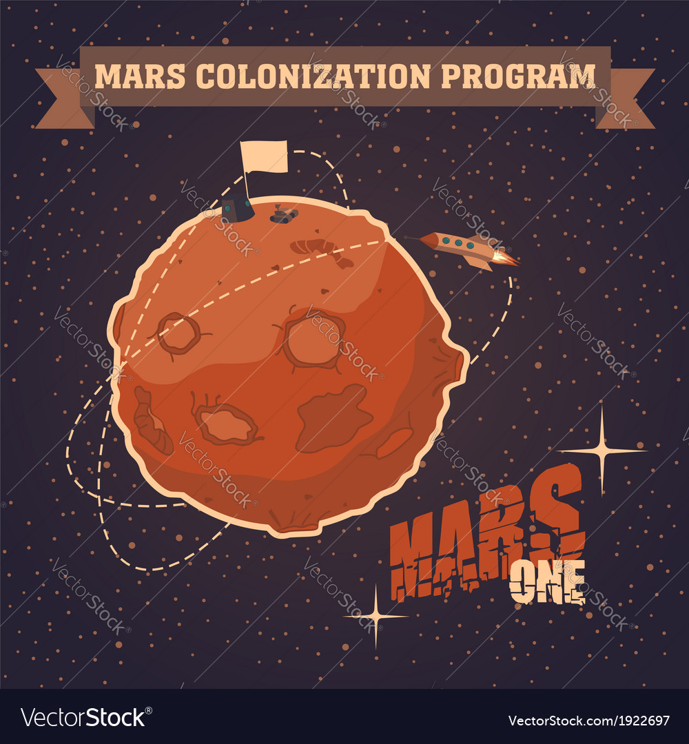 Mars colonization program vector | Price: 3 Credit (USD $3)