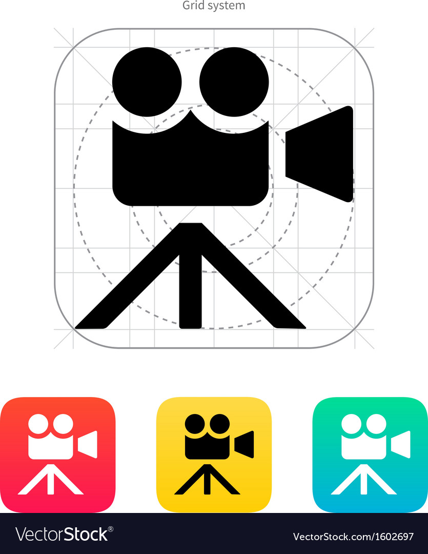Movie camera icon vector | Price: 1 Credit (USD $1)