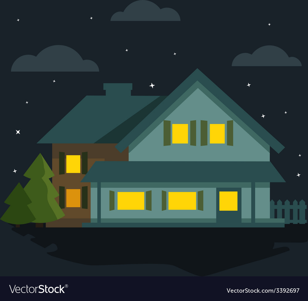 Night the house vector   Price: 1 Credit (USD $1)