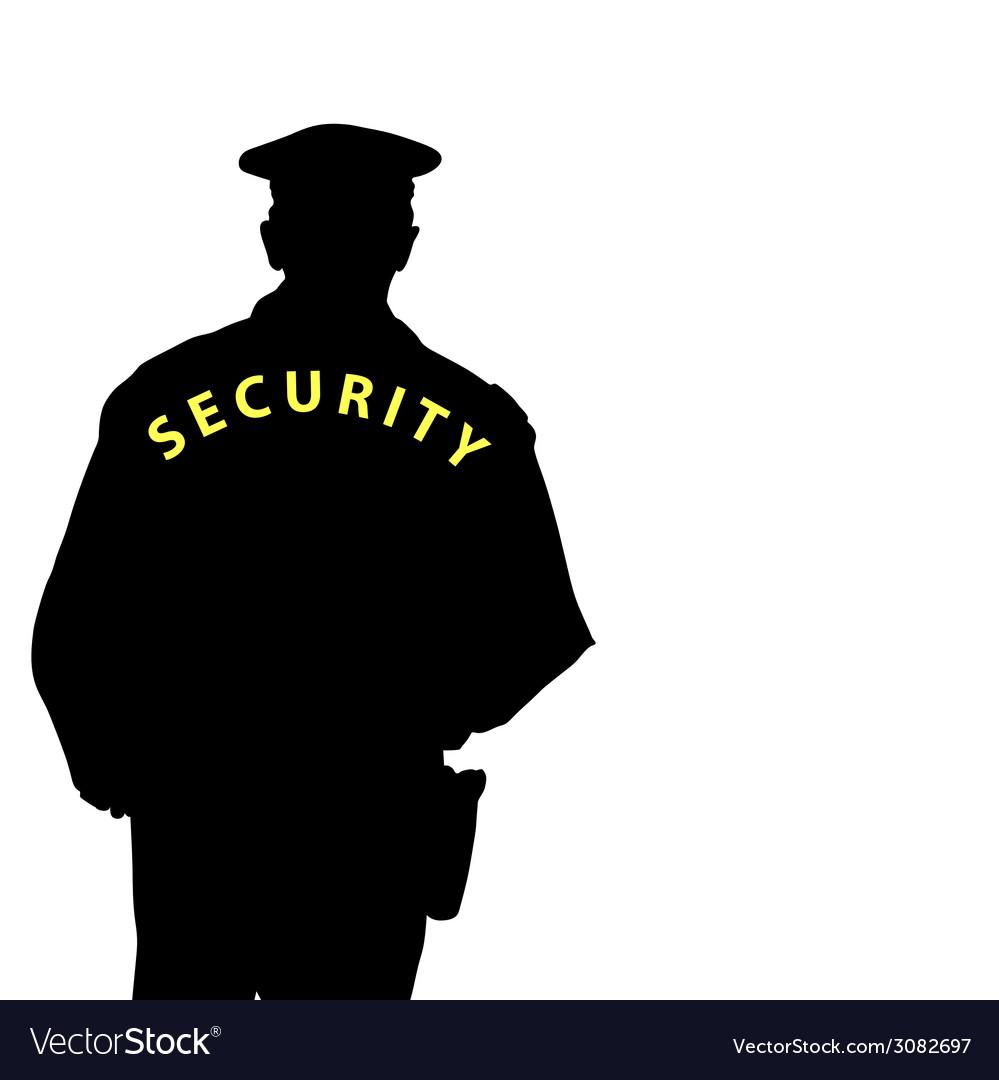 Security man color vector | Price: 1 Credit (USD $1)