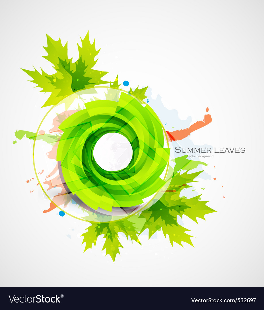 Summer leaves vector | Price: 1 Credit (USD $1)