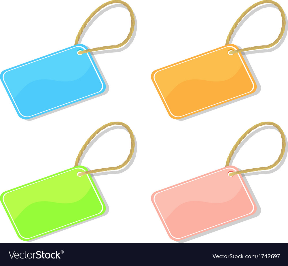 Trinket tags vector | Price: 1 Credit (USD $1)