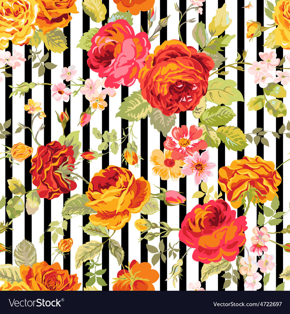 Vintage floral background - seamless pattern vector | Price: 1 Credit (USD $1)