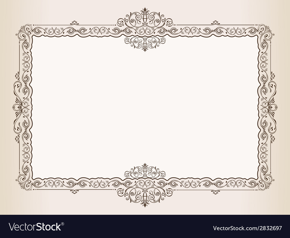 Vintage frame decorated antique ornaments royal vector | Price: 1 Credit (USD $1)