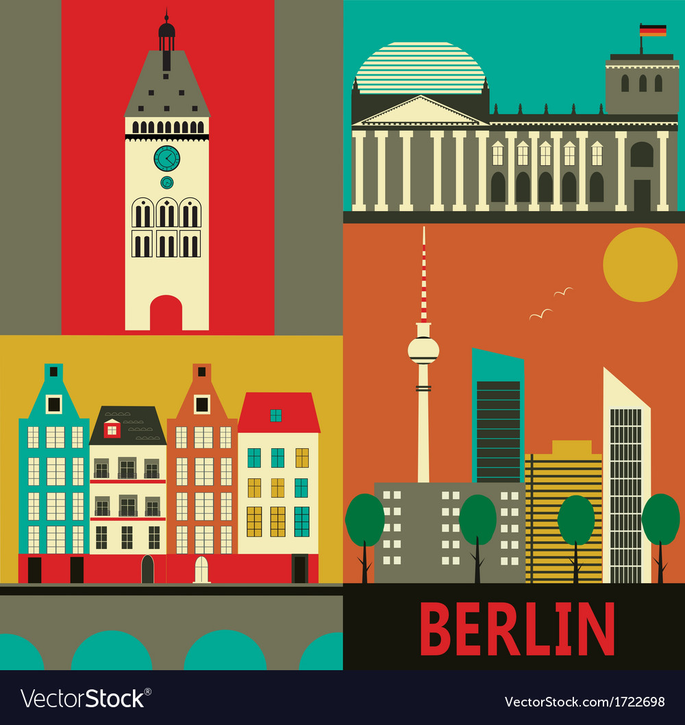Berlin city vector | Price: 1 Credit (USD $1)