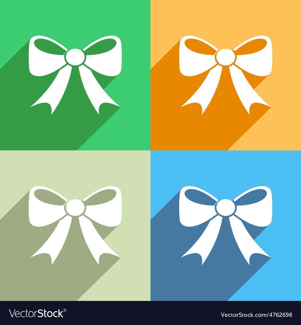 Bow icon menu icon vector | Price: 1 Credit (USD $1)