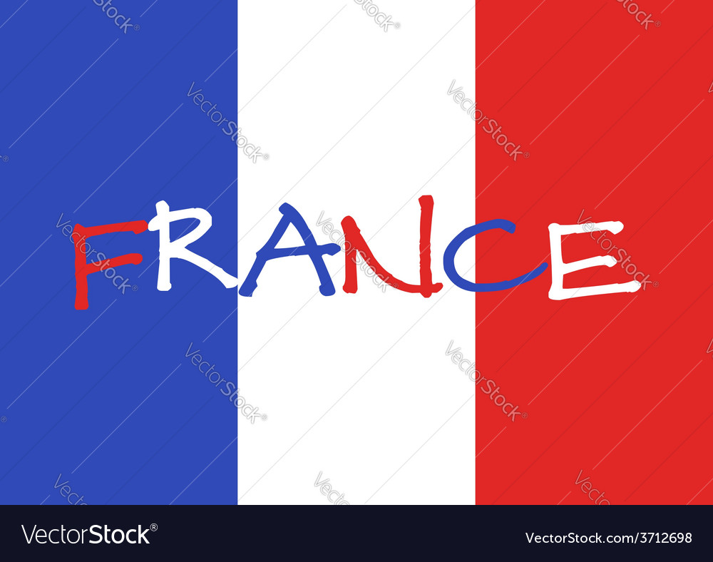 France 2016 football poster france flag background vector | Price: 1 Credit (USD $1)