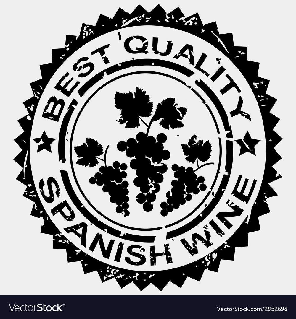 Grunge stamp quality label for spanish wine vector | Price: 1 Credit (USD $1)