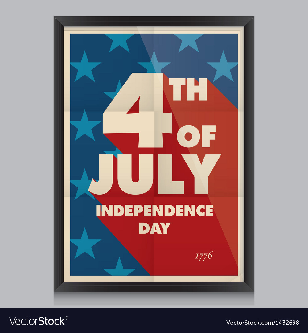 Happy independence day poster vector | Price: 1 Credit (USD $1)