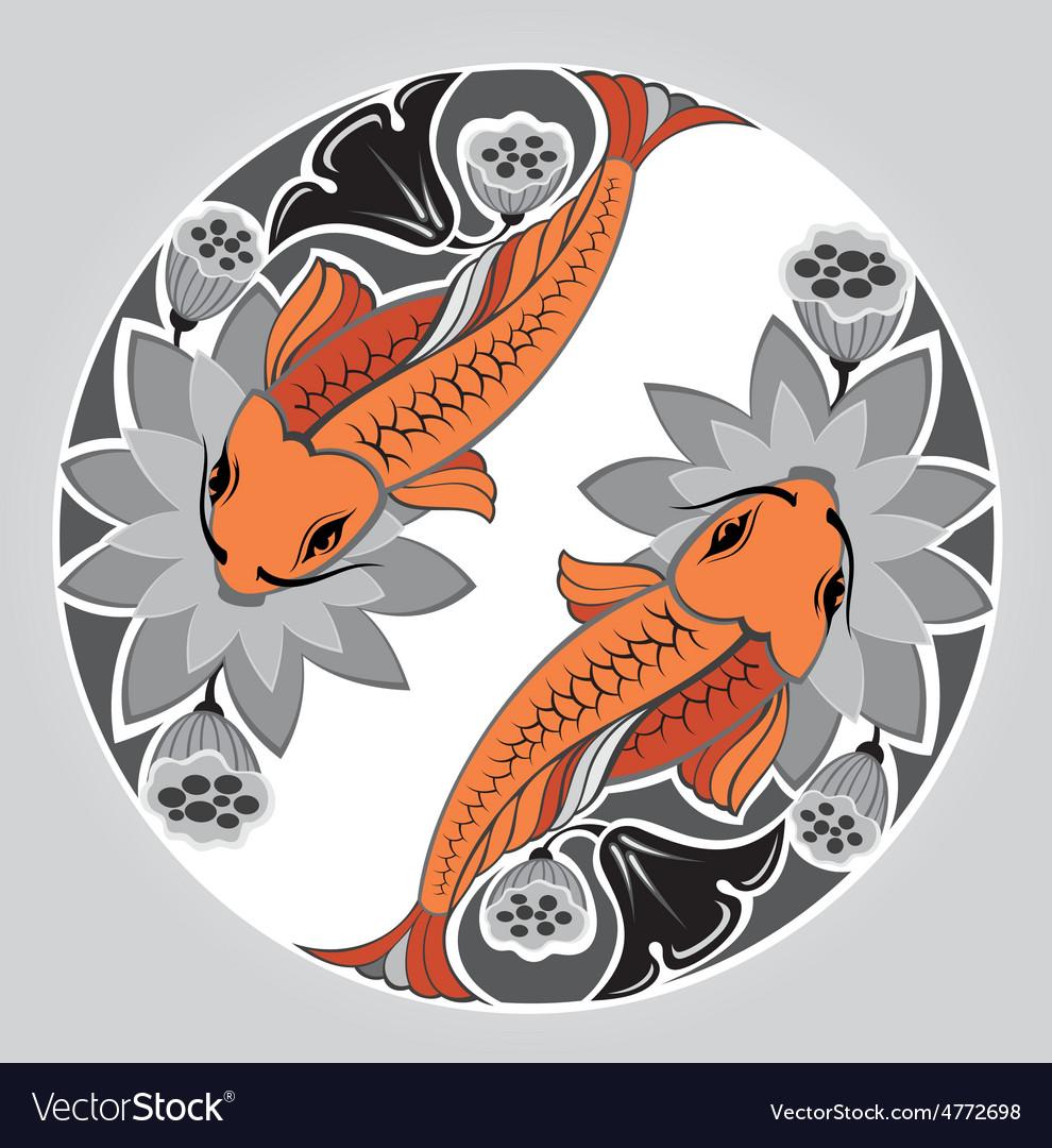 Japanese decorative koi vector | Price: 1 Credit (USD $1)