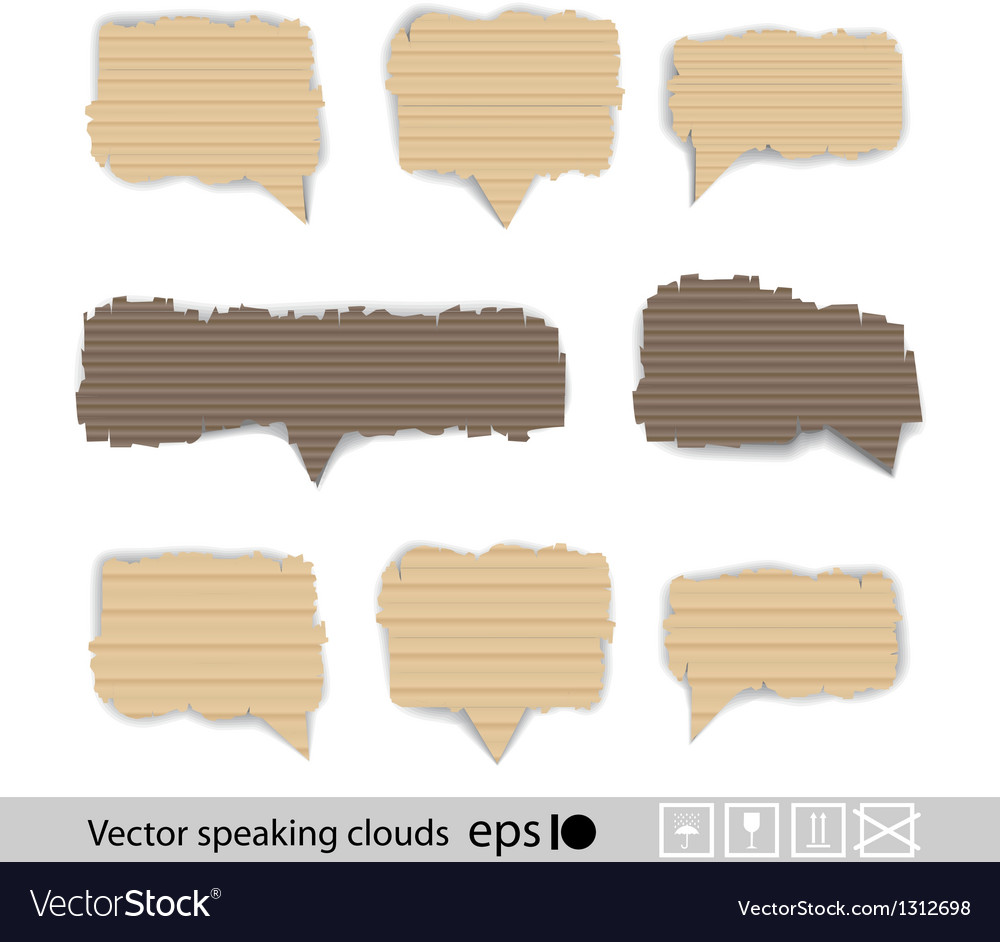Paper style speech bubbles for the text vector | Price: 1 Credit (USD $1)