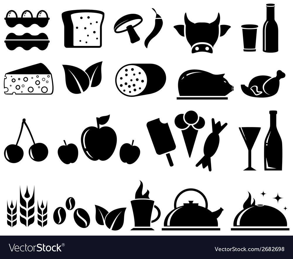 Set food objects vector | Price: 1 Credit (USD $1)