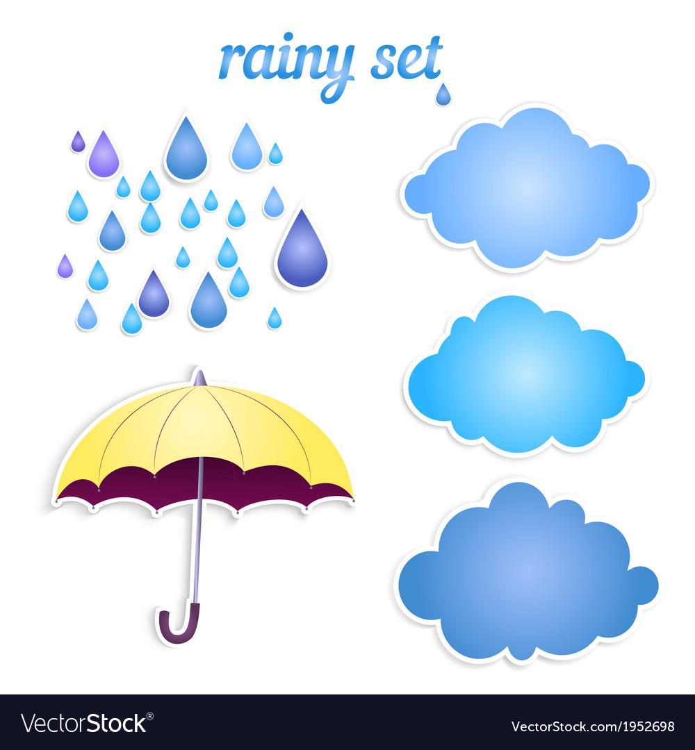 Set of icons for your rain vector | Price: 1 Credit (USD $1)