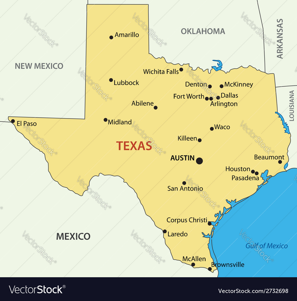 Texas - map vector | Price: 1 Credit (USD $1)
