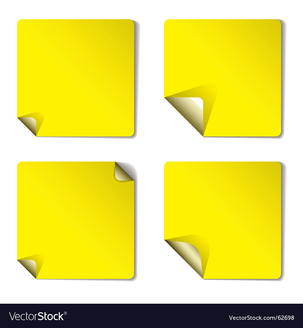 Yellow variation page curl vector | Price: 1 Credit (USD $1)