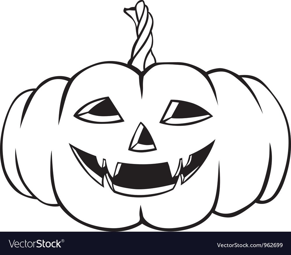 Fanged pumpkin vector | Price: 1 Credit (USD $1)