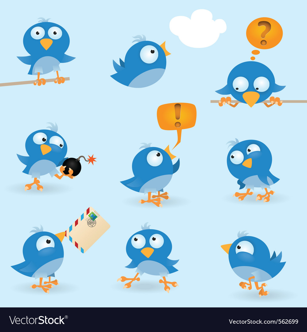 Funny birds vector | Price: 3 Credit (USD $3)