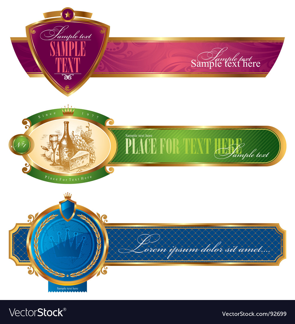 Golden banners vector | Price: 3 Credit (USD $3)