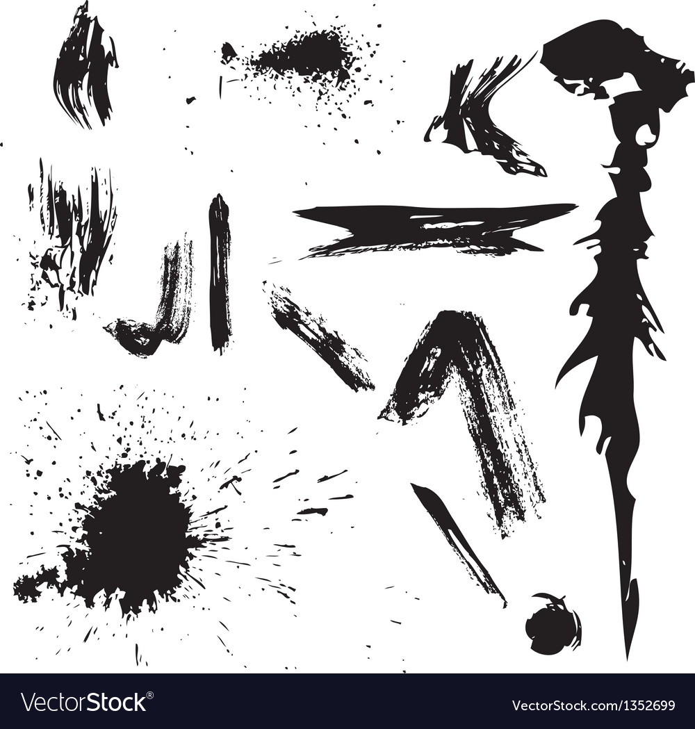 Grunge graphic elements collection vector   Price: 1 Credit (USD $1)