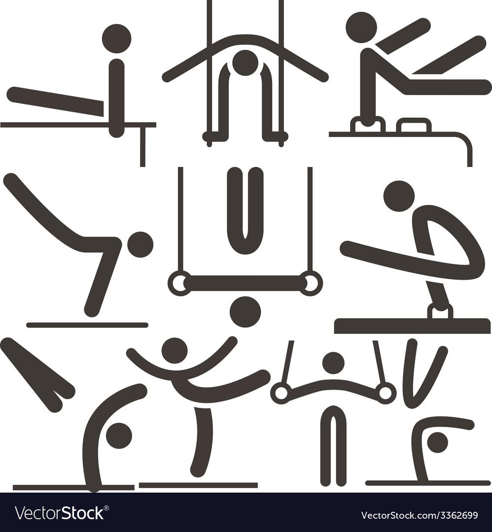 Gymnastics artistic icons vector | Price: 1 Credit (USD $1)