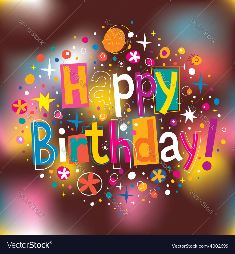 Happy birthday 3 vector   Price: 1 Credit (USD $1)