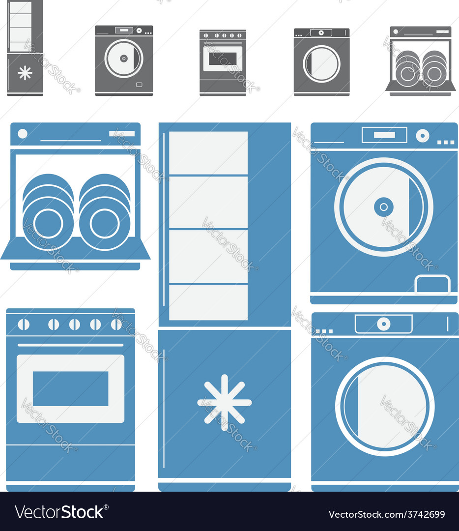 Home electronic appliances vector | Price: 1 Credit (USD $1)