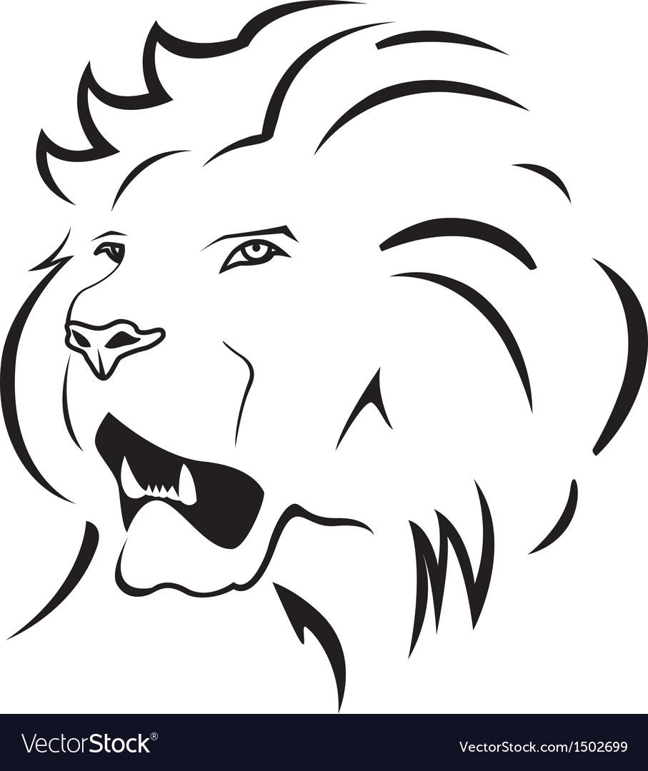 Lion symbol vector | Price: 1 Credit (USD $1)