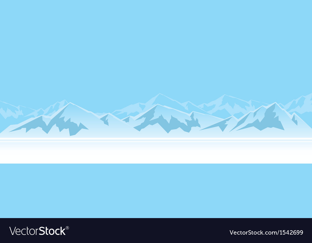 Mountains in the afternoon vector | Price: 1 Credit (USD $1)