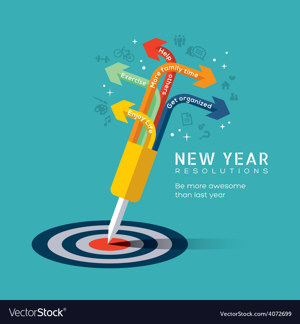 New year resolution concept vector | Price: 1 Credit (USD $1)