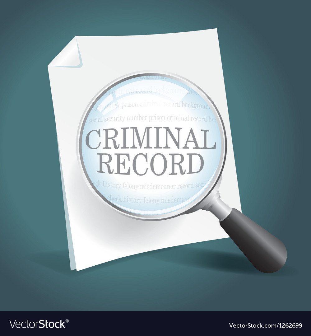 Reviewing a criminal record vector | Price: 1 Credit (USD $1)