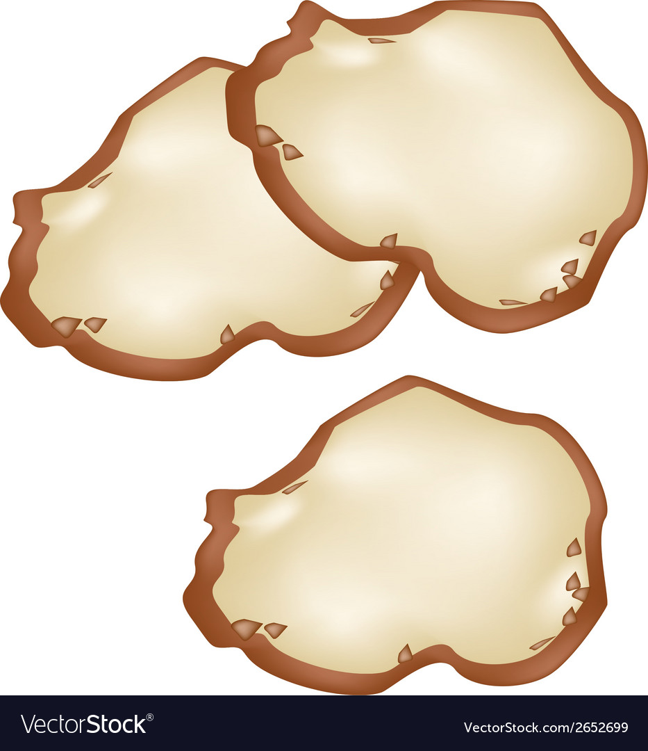 Thai coconut pancake on banana leaf container vector | Price: 1 Credit (USD $1)