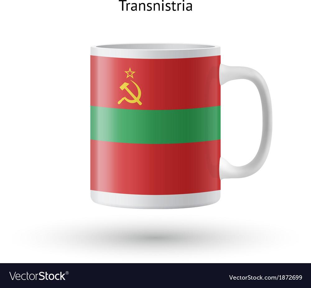 Transnistria flag souvenir mug on white background vector | Price: 1 Credit (USD $1)