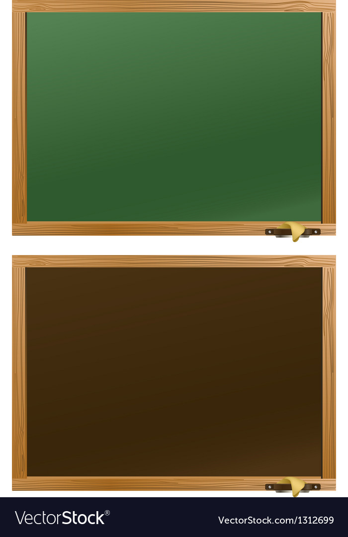 Wood school desks set vector | Price: 1 Credit (USD $1)