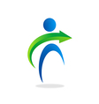 People abstract arrow logo vector