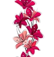 Seamless tulips vector