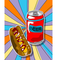 Pop art graphic vector