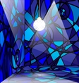 Blue abstract room vector