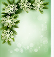 Retro background with christmas tree vector